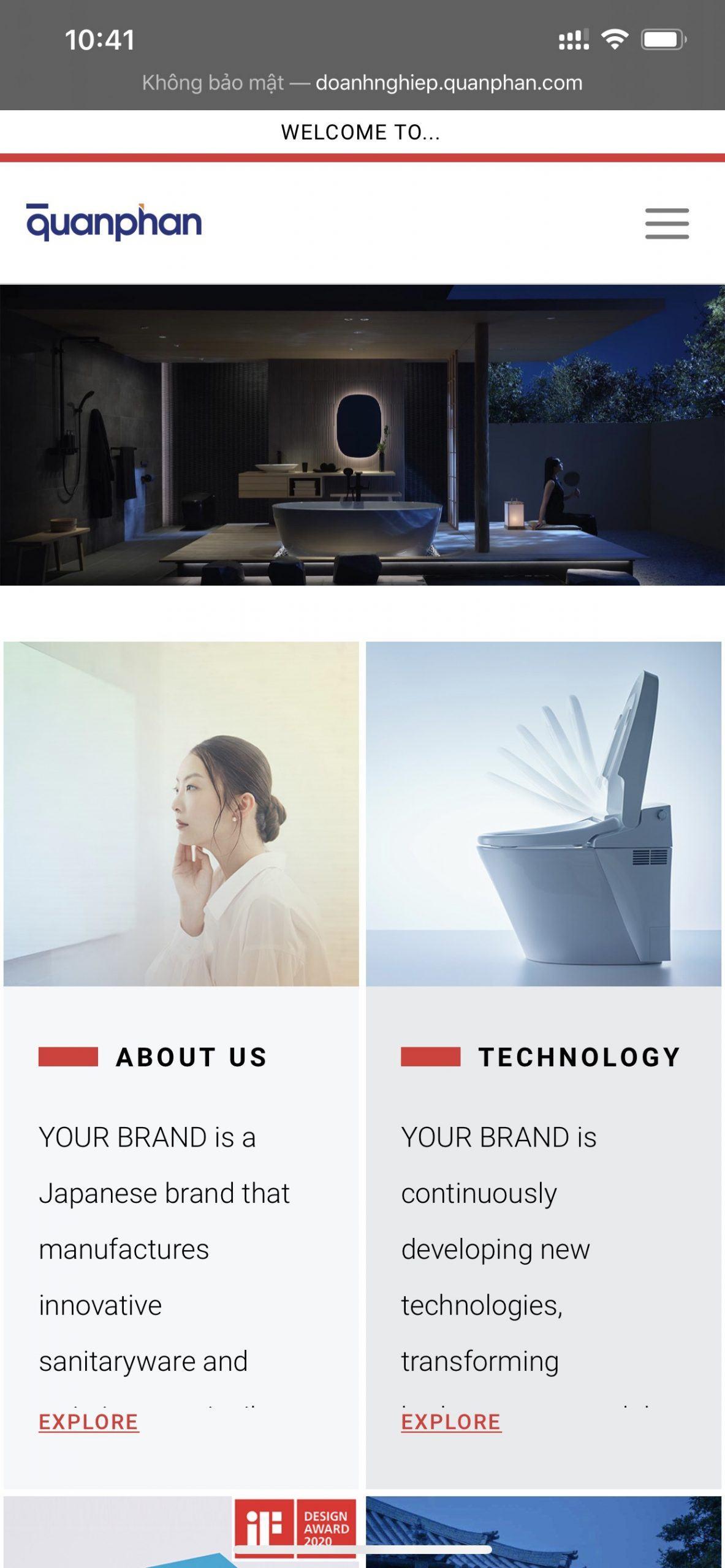 Demo website doanh nghiep