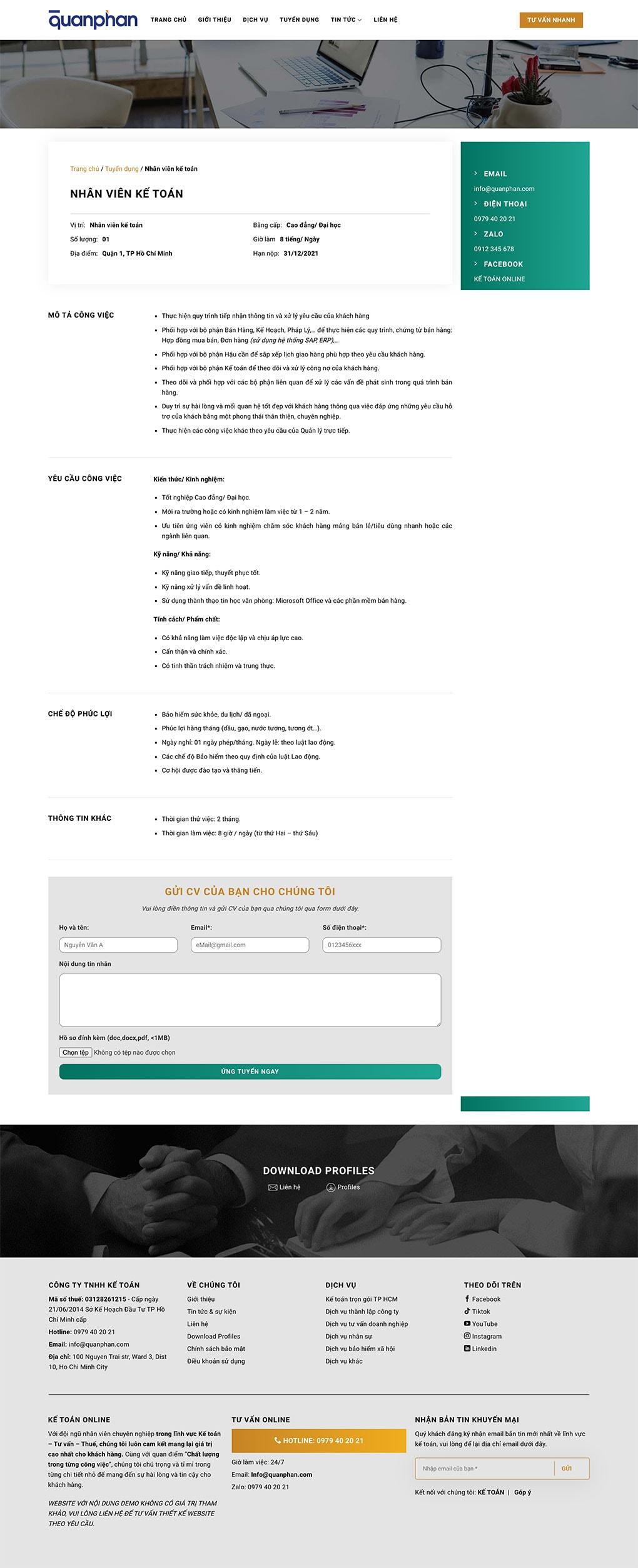 demo website dich vu ke toan