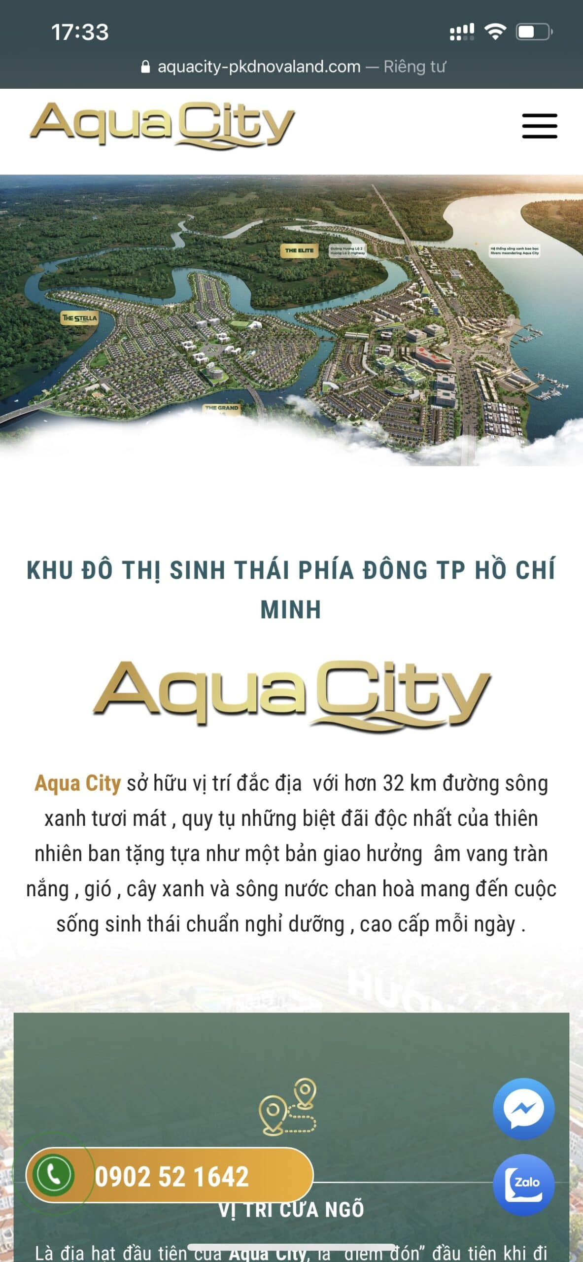 thiet ke website aquacity
