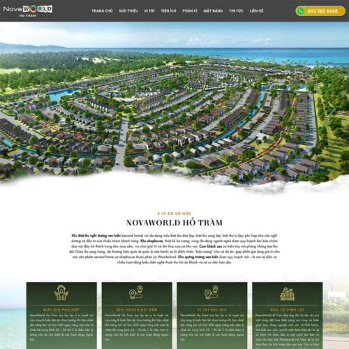 thiet ke website novaworld ho tram