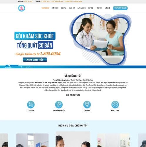 demo thiet ke website phong kham