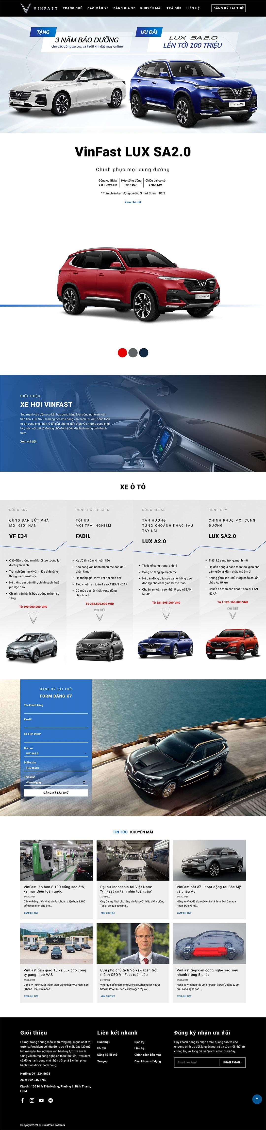 mau web ban xe oto