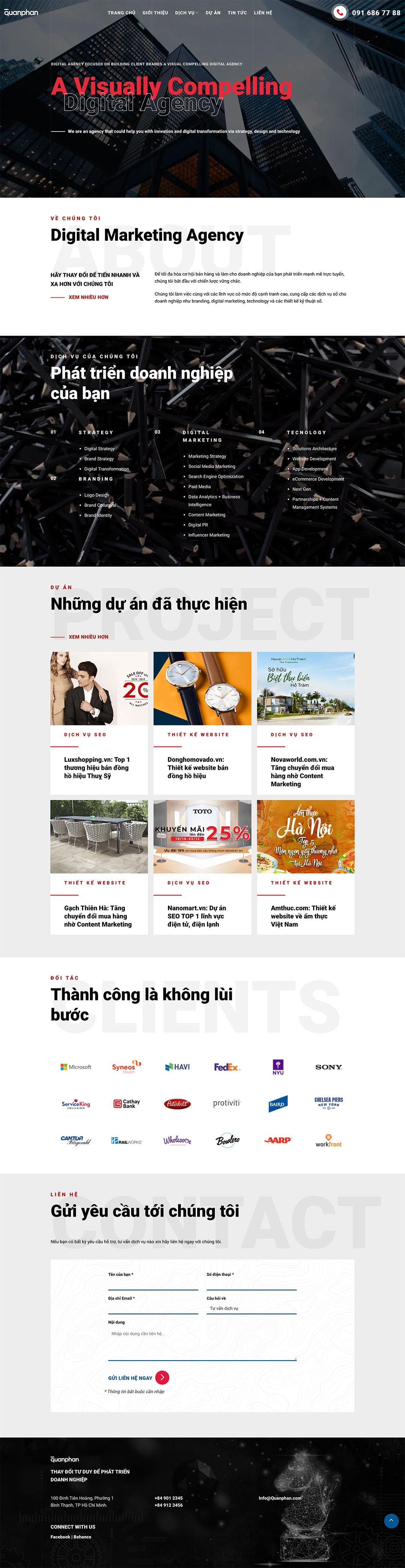 demo thiet ke website dich vu digital marketing