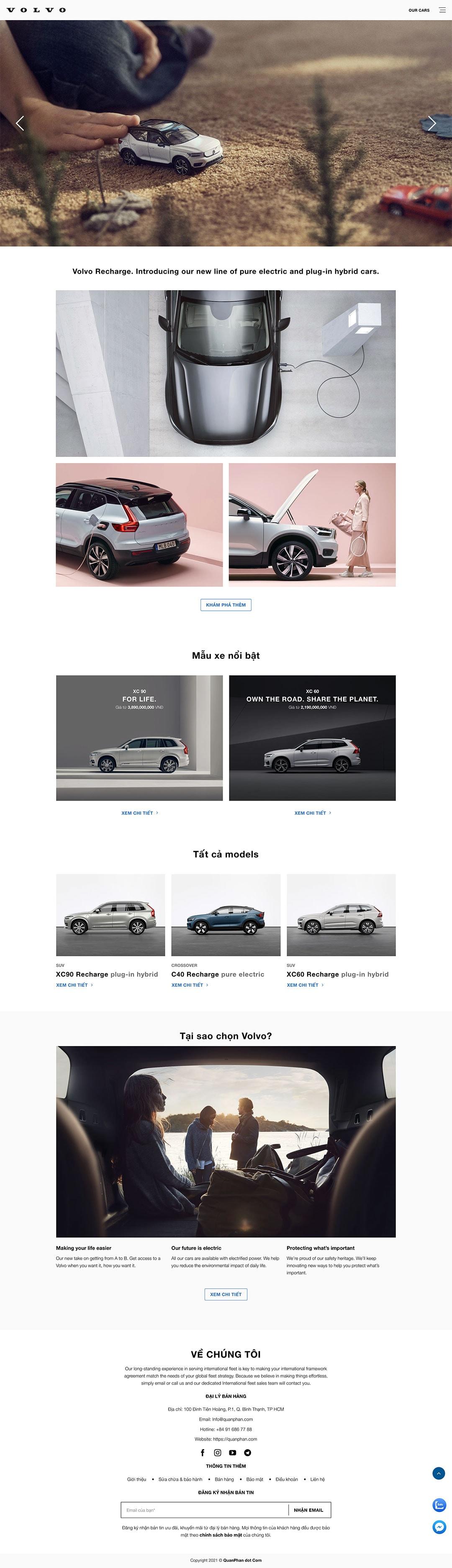 thiet ke website ban xe oto dep