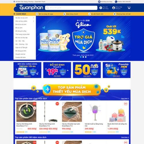 Thiet ke website ban bim sua - do so sinh