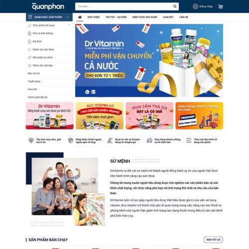 Thiet ke website ban thuc pham chuc nang