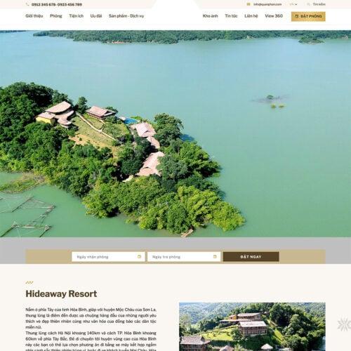Thiet ke website homestay - khach san - nghi duong